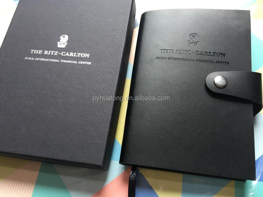 genuine leather pocket notebook with box