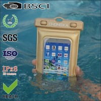 factory wholesale high quality pvc waterproof case cover for iphone5 with strap