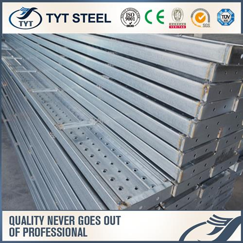 scaffolding plank for frame system steel plank with hooks