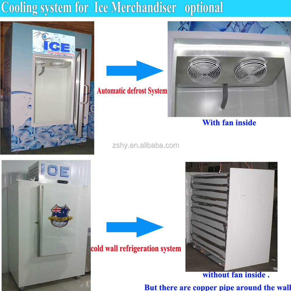 CE Cold Wall Bagged Ice Storage Bin for Gas Station Use