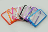 TPU Frame + Clear Transparent PC Hard Back Case Cover for Samsung Galaxy Note 2 II N7100