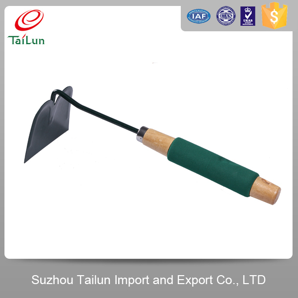 Plastic coated high quality garden hoe with wooden handle for High quality garden tools