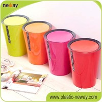 fashion office top open plastic dustbin waste container