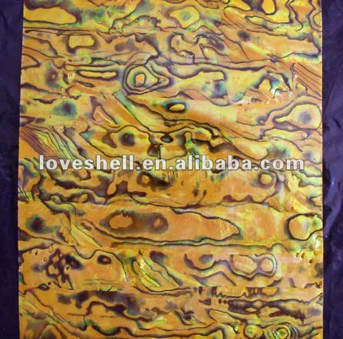 yellow abalone shell sheets