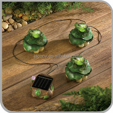 solar outdoor garden lamp poly-resin frog 3 sets (JL-7814C)