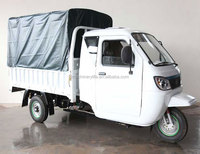 200cc Water Cool Engine2 Meter Length Carriage Van Cargo Tricycles with Tarpaulin