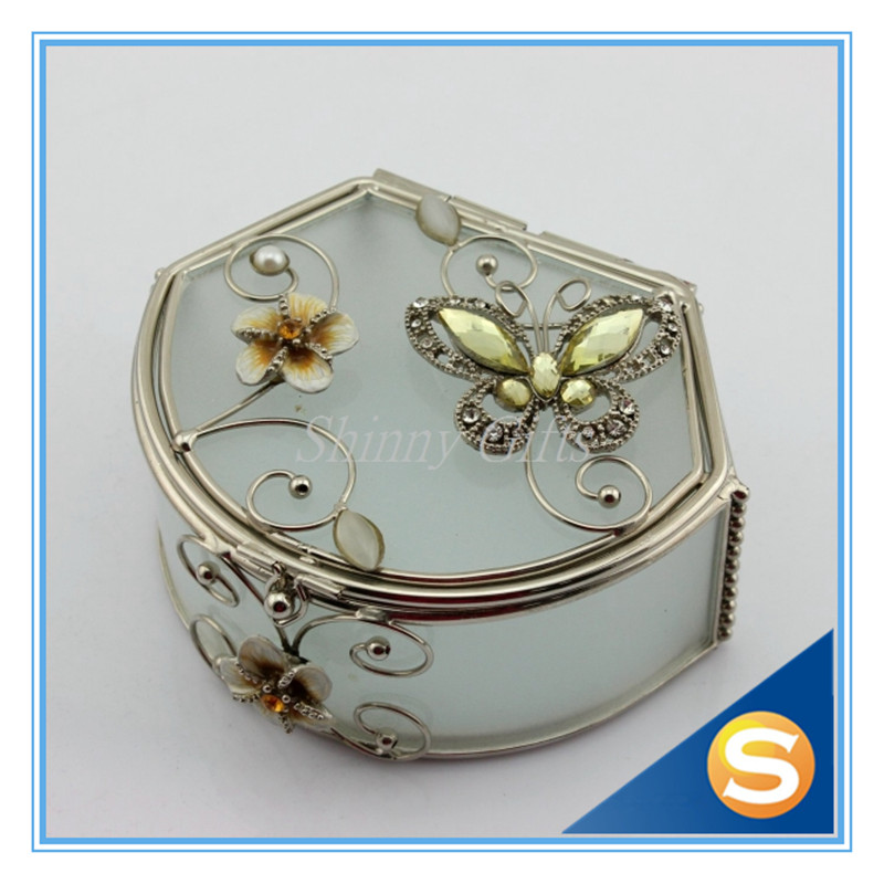 wedding gifts vintage silver plated jewelry box gift box