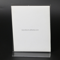 A4 Table Menu Service Label Office Club Business Restaurant Acrylic T shape Desk Sign Holder Card Display Stand