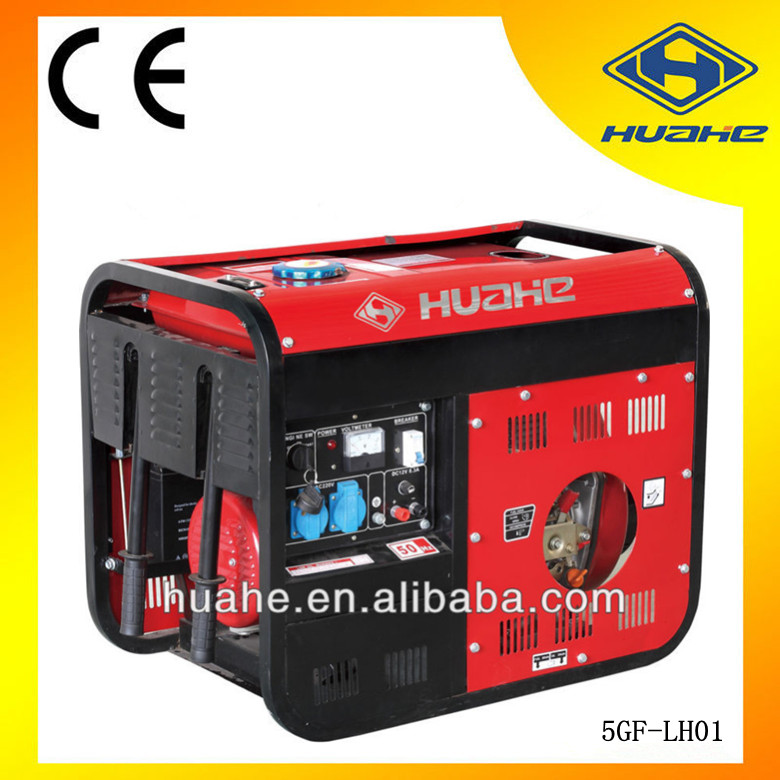 HUAHE China Zhejiang 5KW AC Three Phase OEM Diesel Generator 5kv