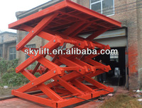 Hydraulic motorcycle lifting table