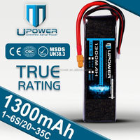 Upower 1300mAH 2S 7.4V Micro RC lithium polymer battery for e cigarette 08570 battery Horizon Hobby New