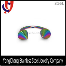 High quality horseshoe 316L stainless steel eyebrow ring for eyebrow piercing jewellery