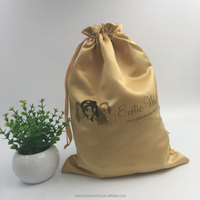 Wholesale Gold thick Satin Drawstring Gift Bags