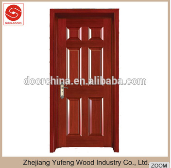Latest Main Gate Designs Solid MDF Room Door Solid Veneer Wooden Door