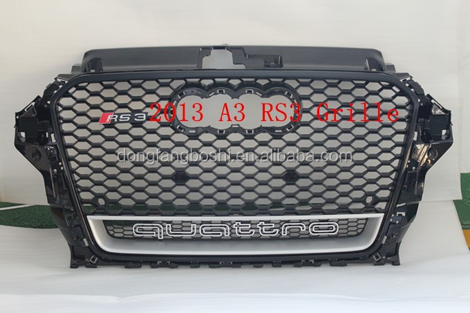 Auto parts A3 RS3 mesh grille for Audi A3 RS3 ABS grille fits 2013 A3/S3/RS3 8V