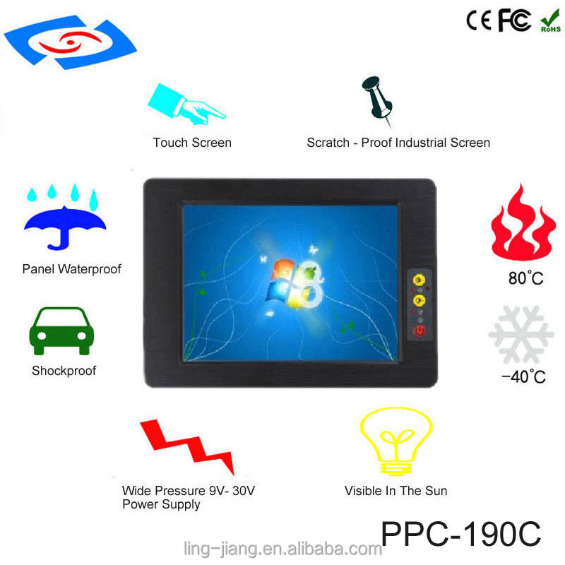 support 3G wifi modem 19 inch Industrial panel computer touch screen tablet pc