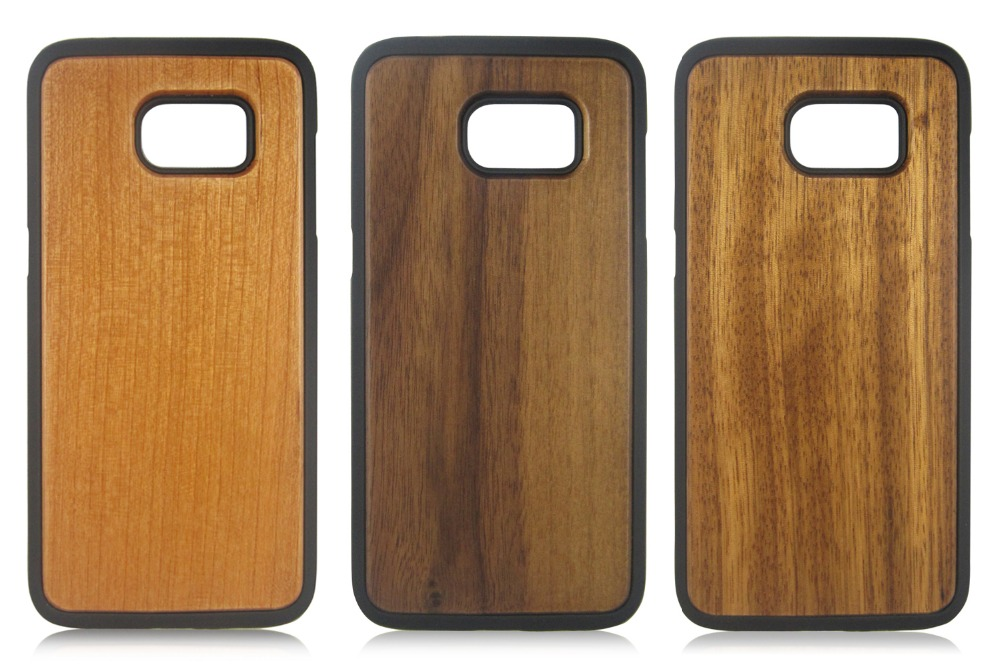 TPU+PC wood phone shells natural wooden phone case blank wood case for Samsung S7 Edge