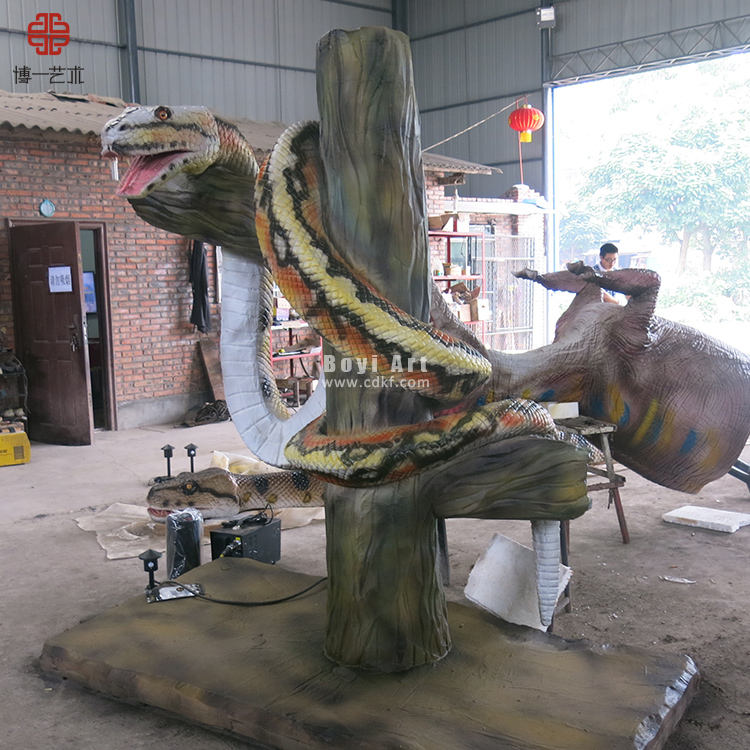 Outdoor Exhibition Animal Replica Robotic Snake