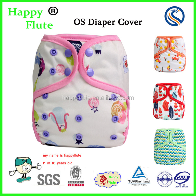 HappyFlute Colorful binding Diaper cover Reusable &Washable baby cover one size fit all with factory price