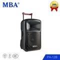 MBA hot plastic shell portable bt 12 inch plastic active speaker box
