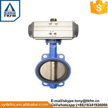 High performance exhaust pneumatic plastic butterfly valve witn ce certificate