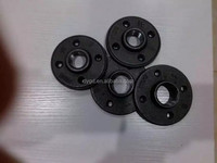 "1"" black malleable cast Iron floor flange/Electric Galvanised Malleable Iron Pipe Fittings Flange"