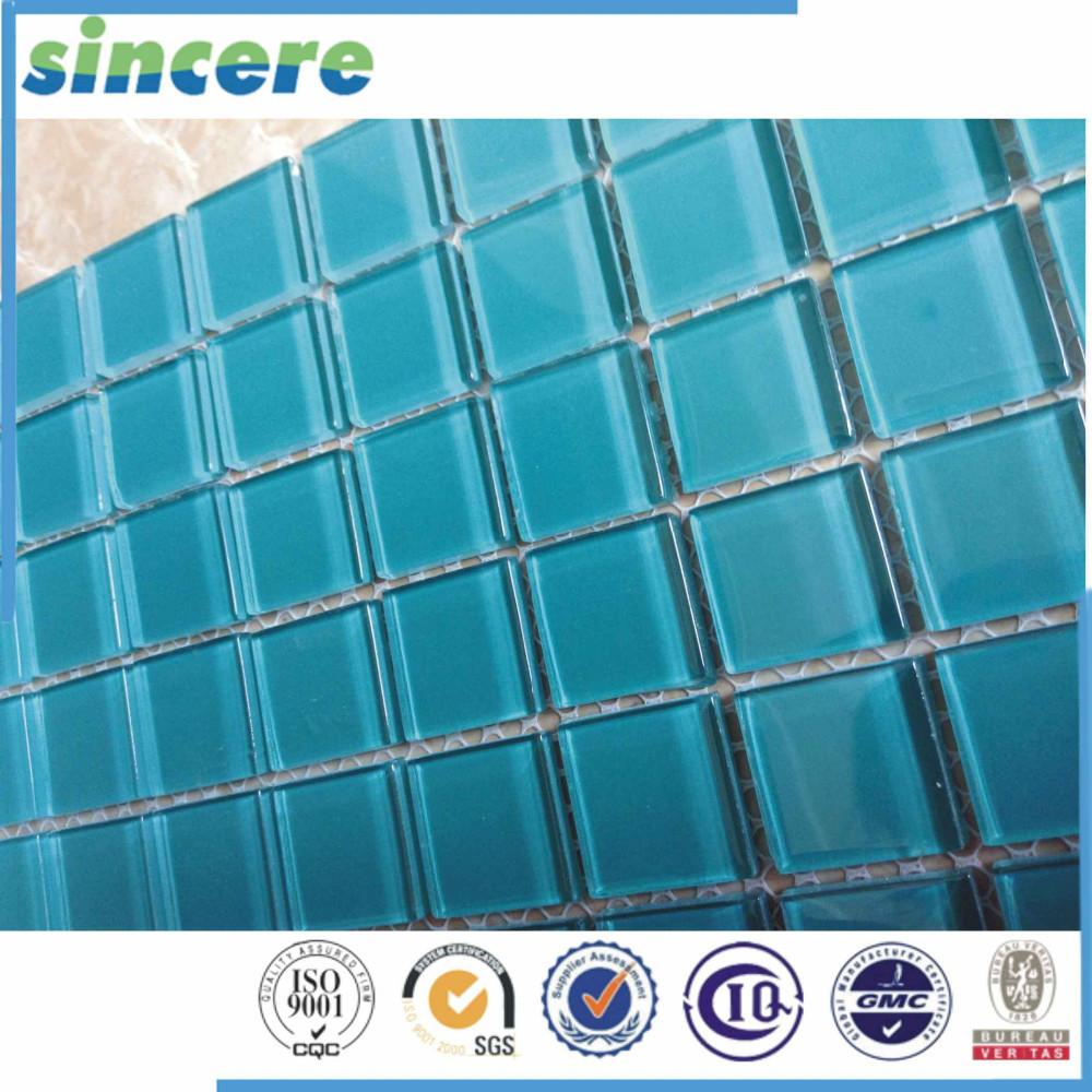 Crystal glass mosaic swimming pool tiles cheap swimming pool tile blue buy blue tile swimming for Glass mosaic swimming pool tiles