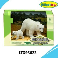 Wild Animals hard plastic polar bear and baby polar bear toy