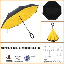 funky inside out reverse umbrella waterproof with aluminium robs