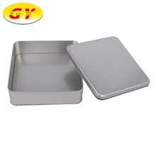 Food grade customized square shaped silver mooncake tin metal box