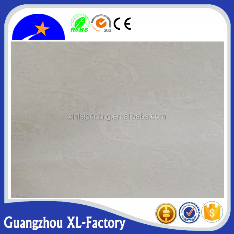 Customized carbonless visible and invisible color fibre watermark papers