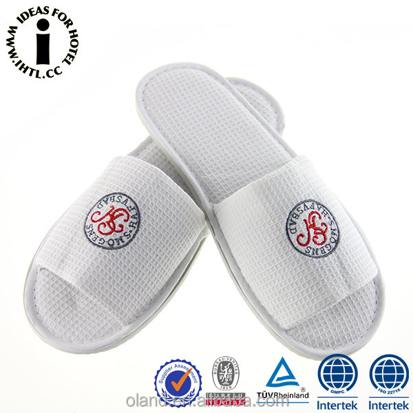 Five Star Hotel Disposable Wholesale Terry Cloth Slippers Printing