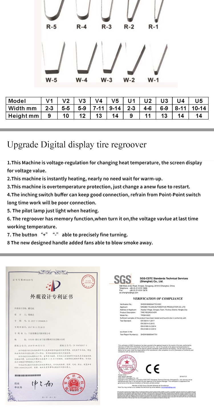 Upgrade Digital display tire regroover