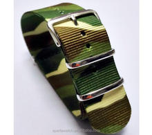 Army camo nylon nato watch band with metal hardware,18/20/22/24/mm Nato Nylon Replacement Watch Strap band