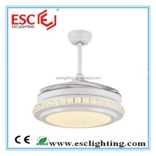 invisible blade ceiling fan light/white and warm led light ceiling fan