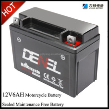 12V motorcycle battery for electric motorcycle spare parts China(YBR, CG, NXR, GY, AX etc.)