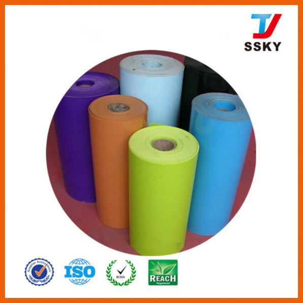 ISO and SGS in rolls with 0.3mm thickness rigid plastic shiny black non-toxic pvc sheet 3mm