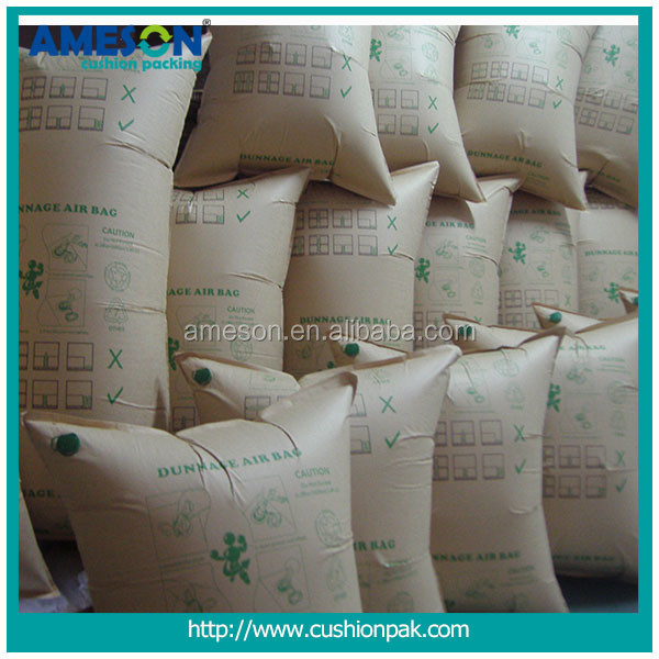 High Quality Cheap Custom brown kraft paper container dunnage air bag