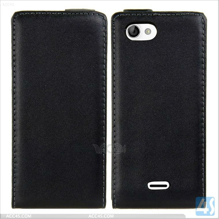 Protective Luxury Leather Wallet Case Cover For Sony Xperia J St26i