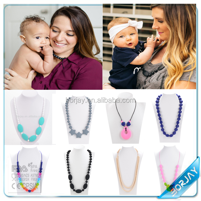 Alibaba China Baby Teething Silicone Jewelry Mother And Child Necklace