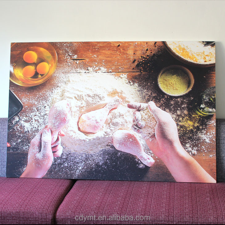 Digital canvas printing from custom pictures reproduction