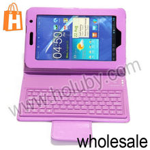 Portable Stand Flip Leather Bluetooth Keyboard Case for Samsung Galaxy Tab 3 7.0 P3200 Made in China