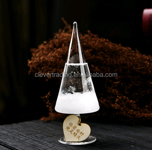 Christmas Gift Weather Forecast Bottle Christmas glass tree