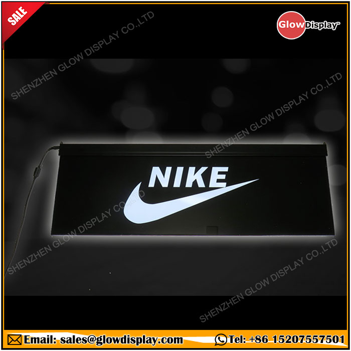 GlowDisplay LED Illuminated Acrylic Nike Brand Sign Display
