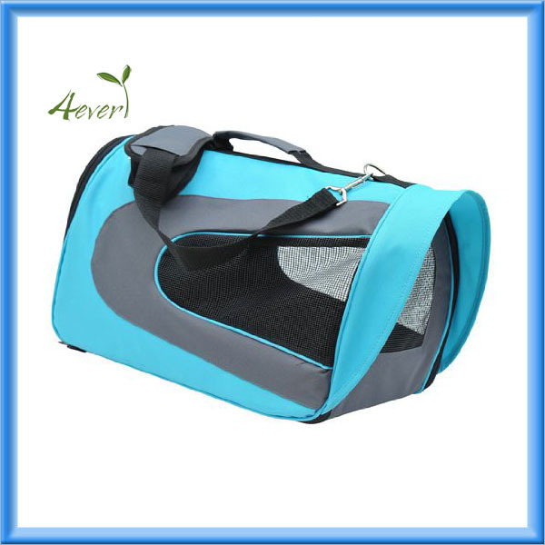 Pet Dog Soft Sided Travel Carrier Tote Bag - Light Blue