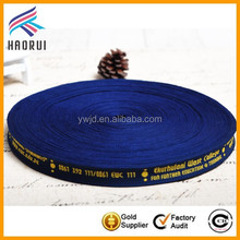Personalized Slogan/Logo Webbing Custom Jacquard Webbing for Organization/School/Society