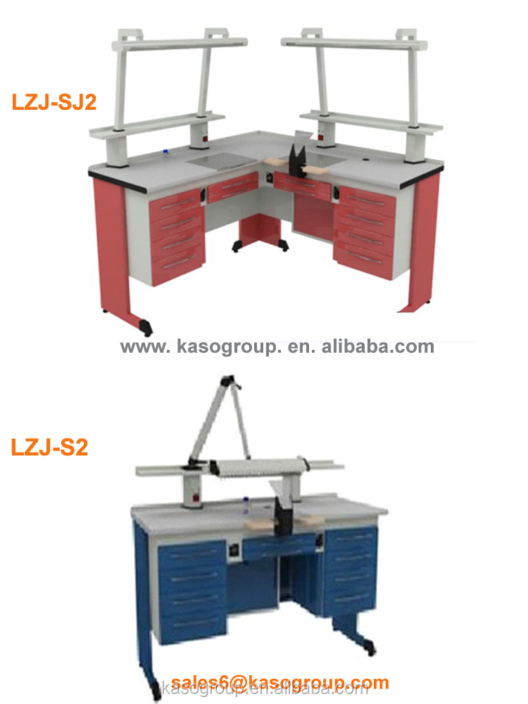 KASO Dental Lab Equipment Workstation Furniture LZJ-SJ1 Single Double Dental Lab Bench