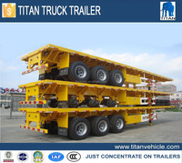 Widely used low bed trailer truck dimensions 40 tons for sale