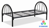 Bedroom furniture twin size metal student bed kids children bed with headboard