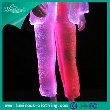 fiber optics fabric mens tight pants